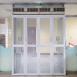 170809 용인 동백중 급식실 방충문 제작 및 설치